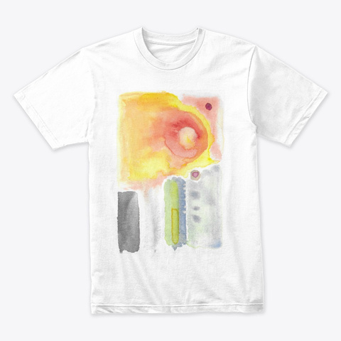 Bright & Original  Watercolor Artwork  White T-Shirt Front