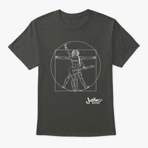 Da Vinci's Guitar Player Smoke Gray T-Shirt Front