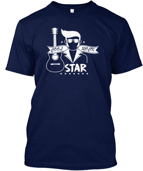 Rock Star Clothing Rock And Roll Tee Shi Navy T-Shirt Front