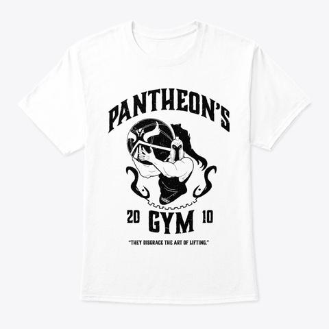 Pantheon's Gym White T-Shirt Front