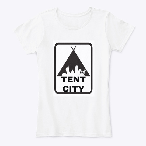 The Classic Tent City Tee White T-Shirt Front