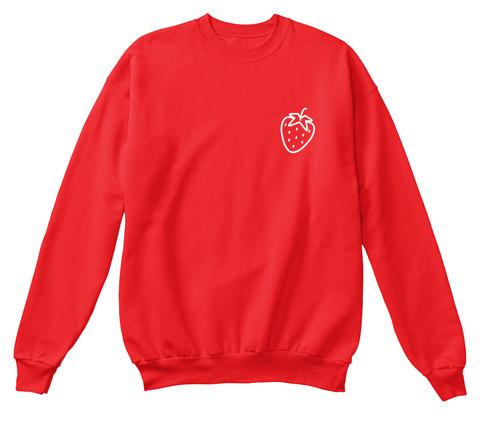 Original 'strawberry' Crewneck Fire Red Sweatshirt Front