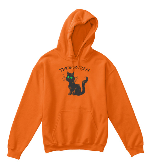 Trick Or Treat Orange T-Shirt Front