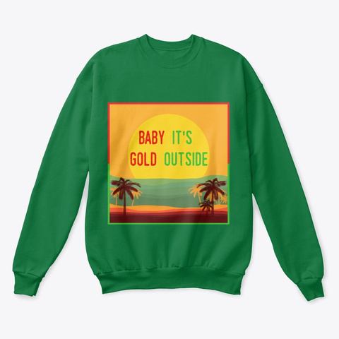 Holiday Gold Kelly Green  Maglietta Front