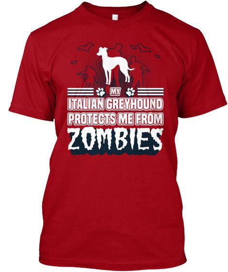 Italian Greyhound Deep Red T-Shirt Front