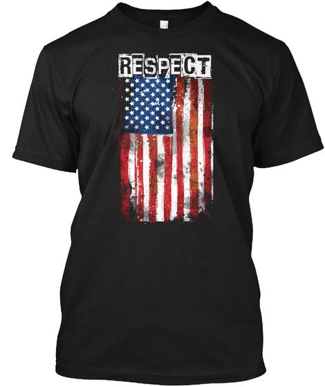Respect Black T-Shirt Front