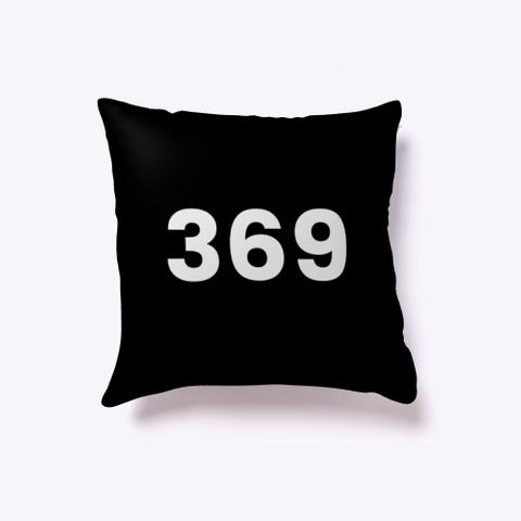 Indoor Pillow: 369 Black T-Shirt Front