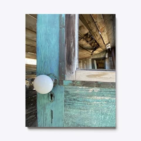 Derelict Blue Door   Vintage Ghost Town Standard T-Shirt Front