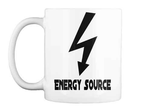 Energy Source White T-Shirt Front