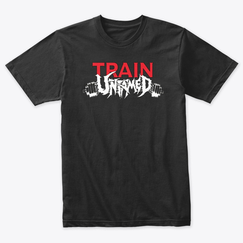 Train Untamed (Black) Vintage Black T-Shirt Front