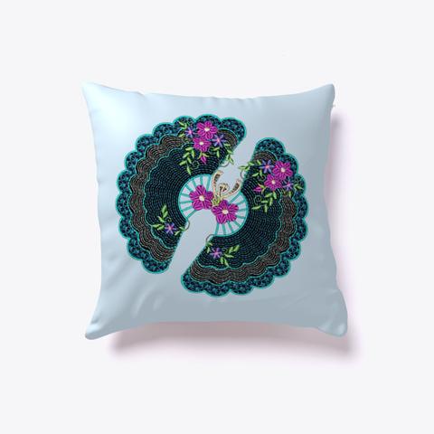 Throw Pillow Design  Fambroi Blue Pale Blue T-Shirt Back