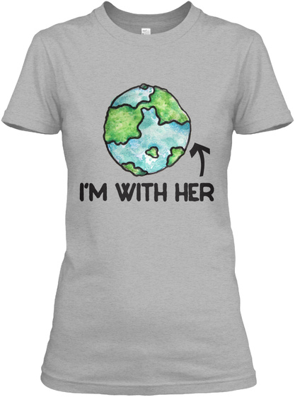 I'm With Her Sport Grey Women's T-Shirt Front