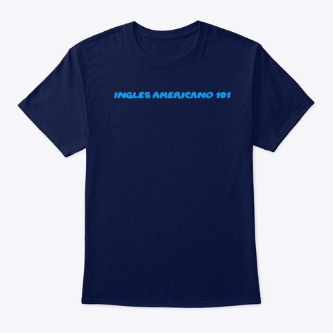 Navy Blue W/ Light Blue Logo Navy T-Shirt Front