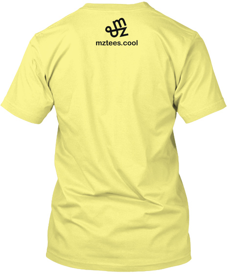 Sad Yellow Triangle Lemon Yellow  T-Shirt Back