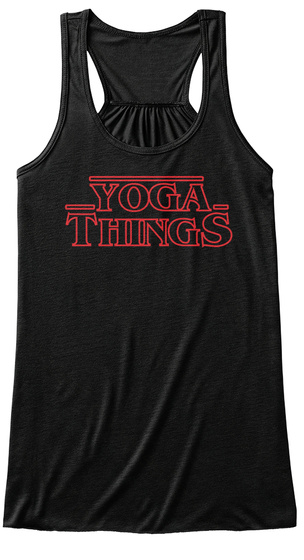 Yoga Things Black Women's Tank Top Front
