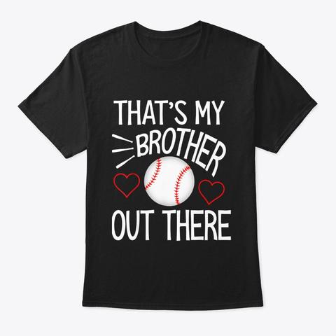 Baseball Sister Shirt Cute Baseball Gift Black T-Shirt Front