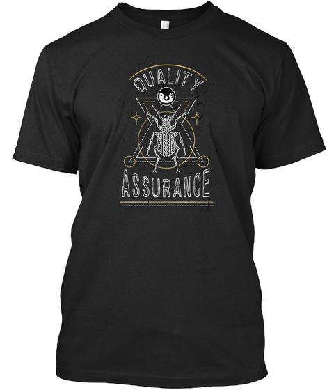 Linux Quality Assurance (Eu) Black T-Shirt Front