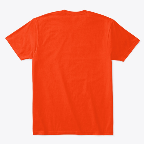 White Asylum Patient Halloween Costume Deep Orange  T-Shirt Back