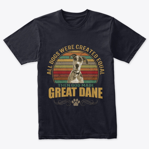 Great Dane Vintage Navy T-Shirt Front