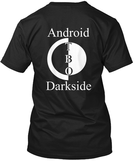 Android Tbo Darkside Black T-Shirt Back