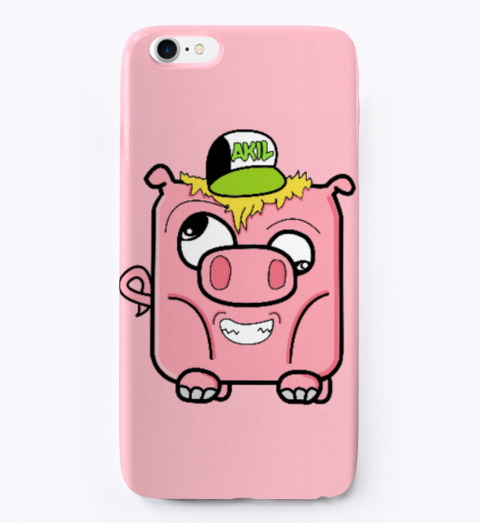 Sweety Piggy Phone Case Pink T-Shirt Front
