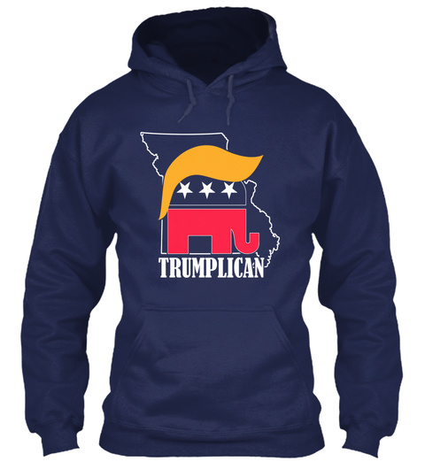 Limited Edition   Missouri Trumplican Navy T-Shirt Front