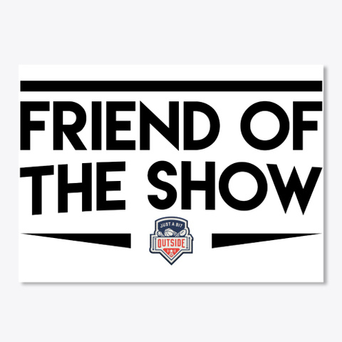 Friend Of The Show White Sticker Front