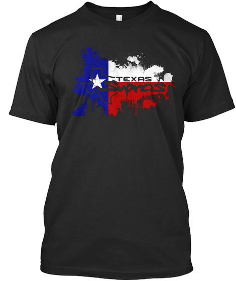 Texas Supras Black T-Shirt Front