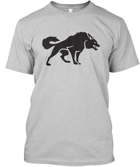 Angry Wolf Light Steel T-Shirt Front