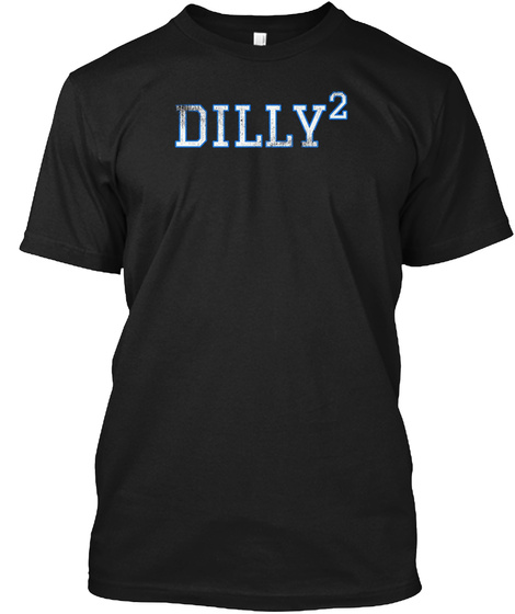 Dilly Squared T Shirt Funny Football Black T-Shirt Front