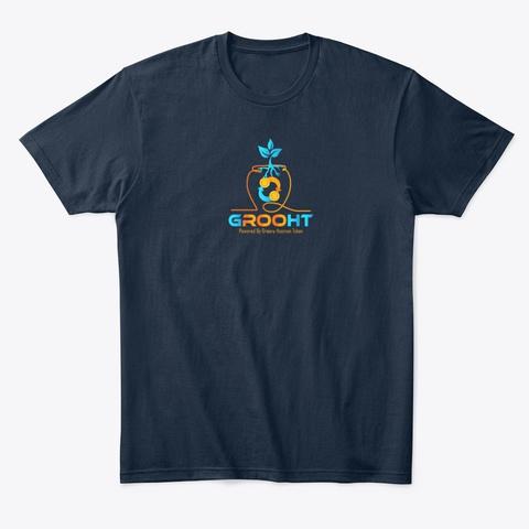 Hot Grooht.Com Merch New Navy T-Shirt Front