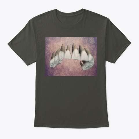 Dentistry Lovers Teeth Art 2 Smoke Gray T-Shirt Front