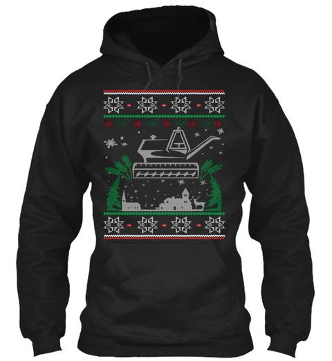 Gardening Christmas Black T-Shirt Front