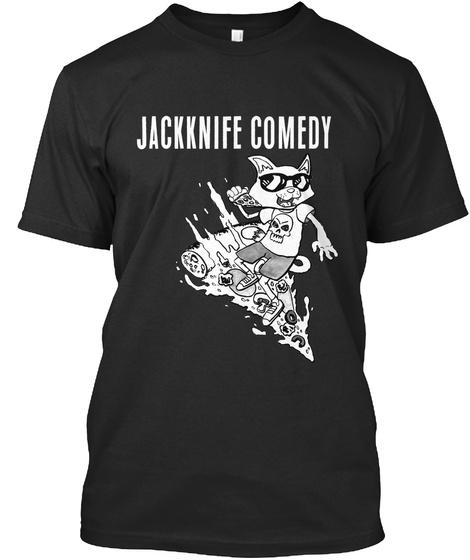 Jackknife Comedy Black T-Shirt Front