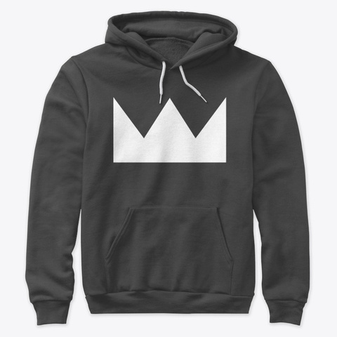 Crown Hoodie Pull Over Dark Grey Heather T-Shirt Front