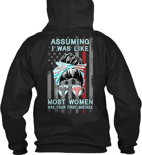 Pta Not Like Most Women Black T-Shirt Back
