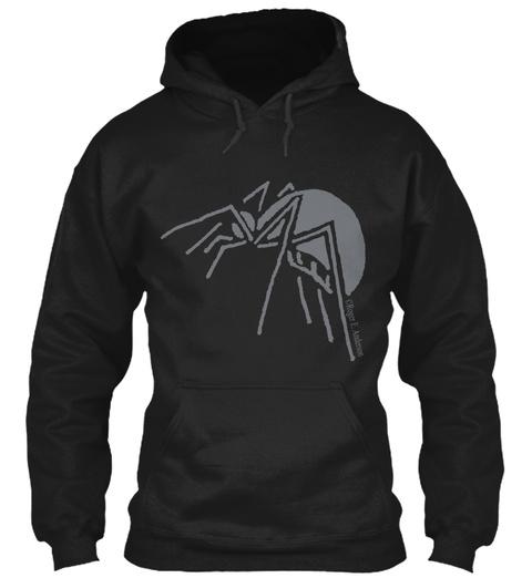 Spider (Hoodie) Black T-Shirt Front