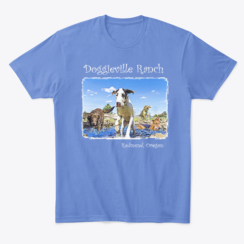 Doggieville Ranch T Shirt #2 Heathered Royal  T-Shirt Front