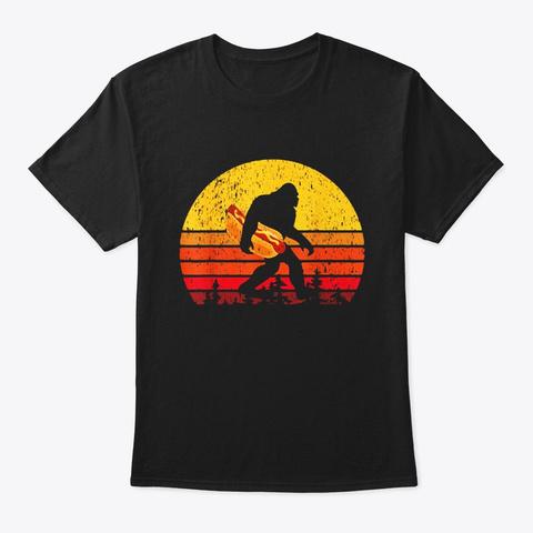 Bigfoot T Shirt For Women Men Hot Dog Black T-Shirt Front