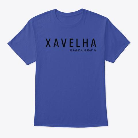 Xavelha, Madeira Island Inspired Design Deep Royal T-Shirt Front