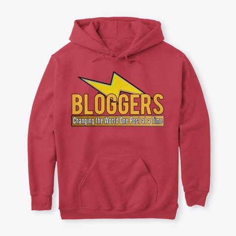 Blogger Lighting Bolt   Change The World Cardinal Red T-Shirt Front