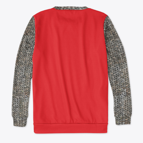 Heraldic Chain Mail   Lion Claw Red T-Shirt Back