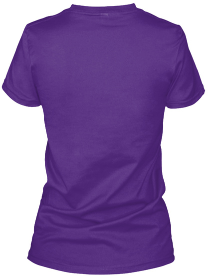 New England Humane Society Purple Women's T-Shirt Back