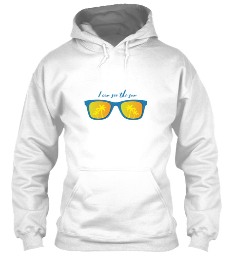 I See The Sun Holiday Summer Sunglasses  White T-Shirt Front