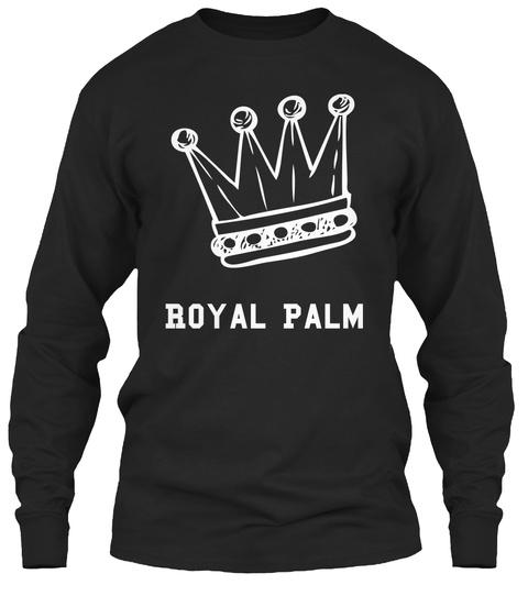 Royal Palm Black Long Sleeve T-Shirt Front