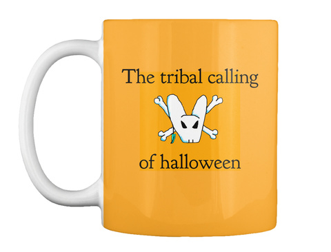 The Tribal Calling Of Halloween Athletic Gold T-Shirt Front
