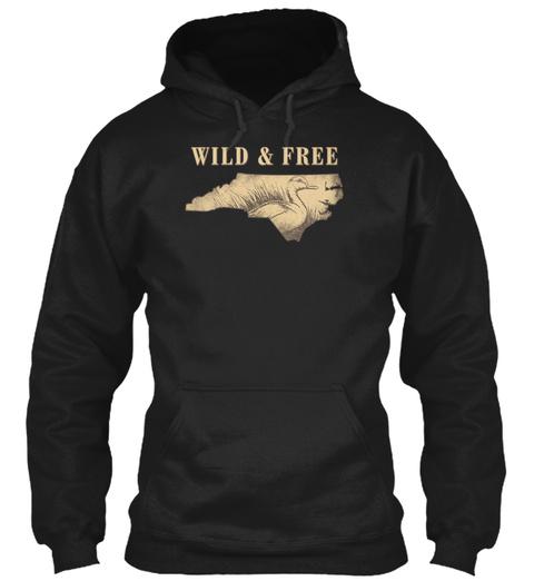 Wild & Free Black T-Shirt Front