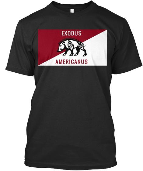 Exodus Americanus Black T-Shirt Front