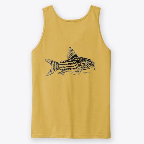 Trilineatus Corydora Dual Side Design Gold T-Shirt Back