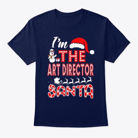 Art Director Santa Christmas Navy T-Shirt Front